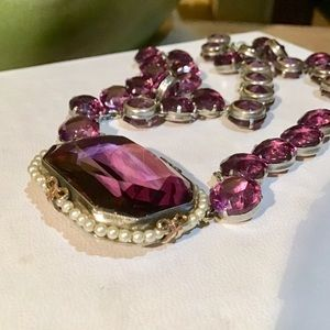 🎁VTG Sterling and Amethyst Necklace